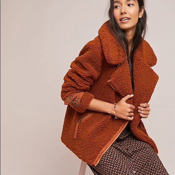 Anthropologie Sherpa Teddy Jacket MUST SELL